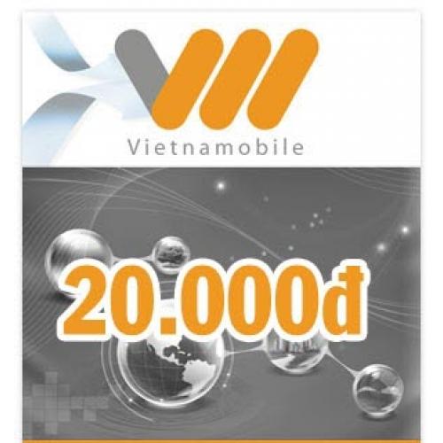 Thẻ điện thoại Vietnamobile 20.000 đồng