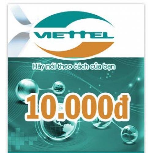 Thẻ điện thoại Viettel 10.000 đồng