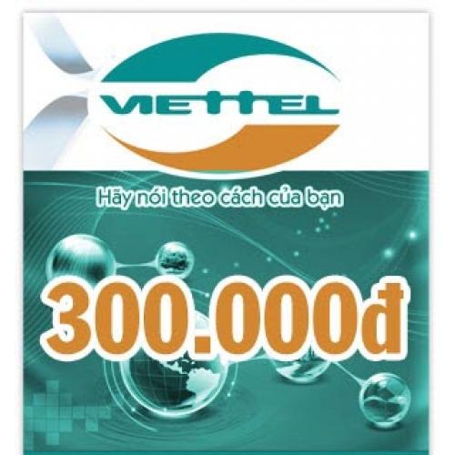 Thẻ điện thoại Viettel 300.000 đồng