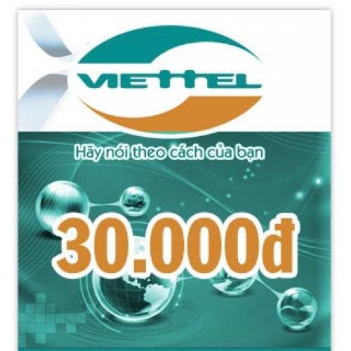 Thẻ điện thoại Viettel 30.000 đồng