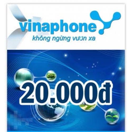 Thẻ điện thoại Vinaphone 20.000 đồng