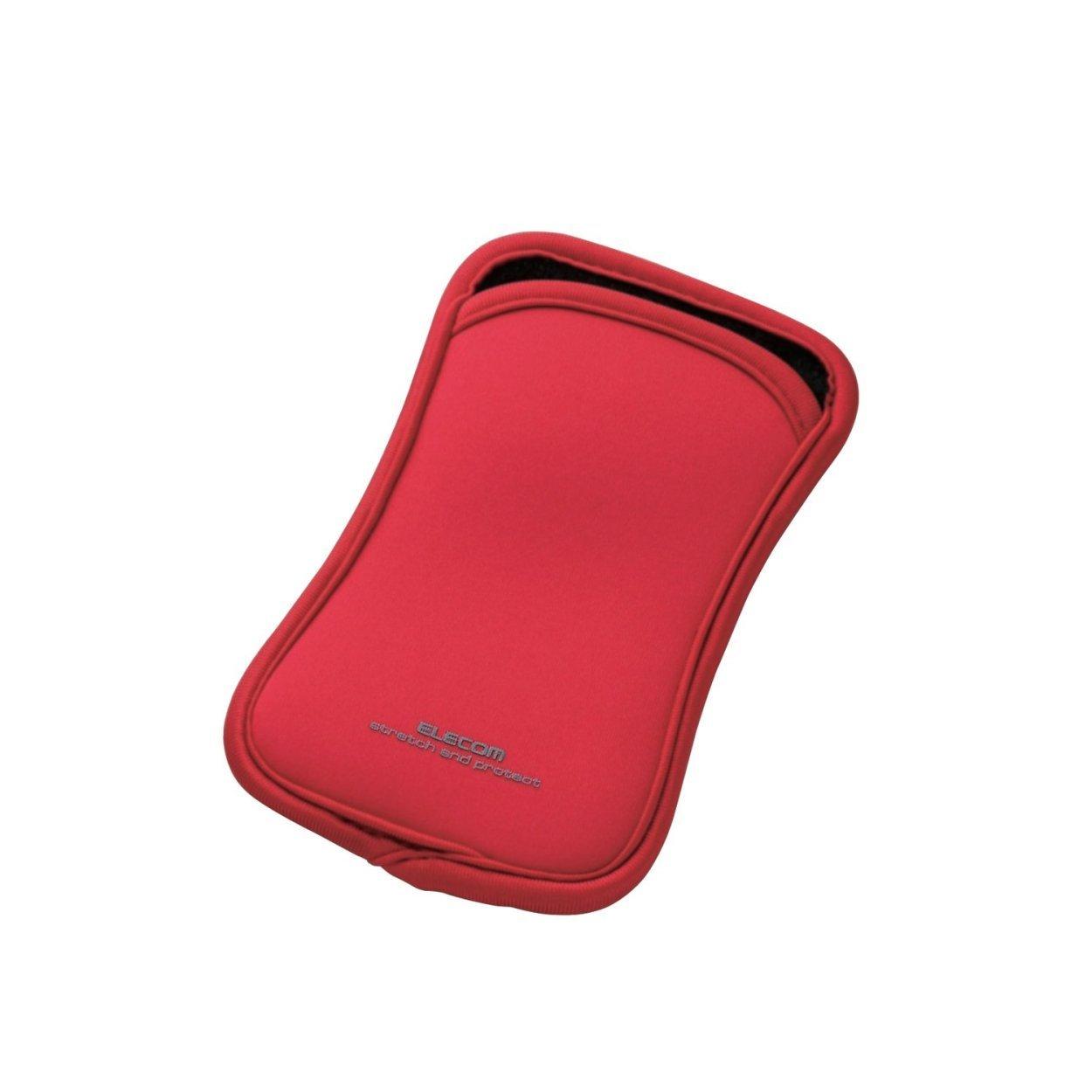 Túi đựng điện thoại DĐ Dùng cho smarphone 5Inch Elecom (Đỏ)