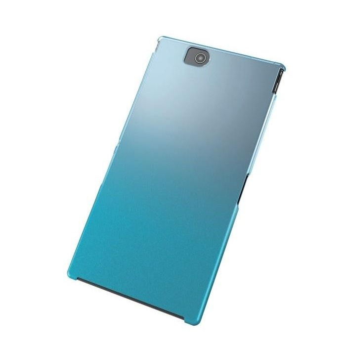 Ốp lưng điện thoại DĐ Sony Xperia Ultra Z Elecom Kèm miếng dán màn hình (Xanh)