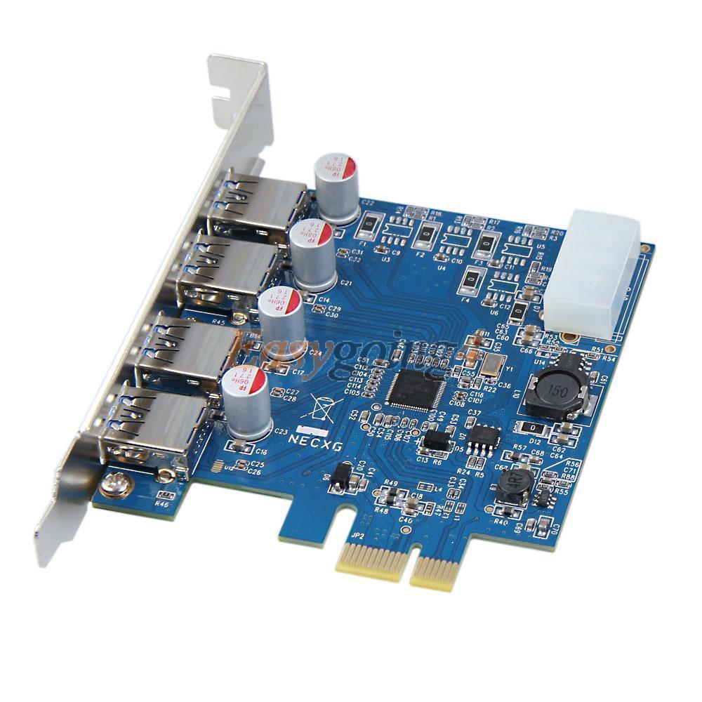 Cạc chuyển đổi từ PCI 1X sang 4 cổng USB