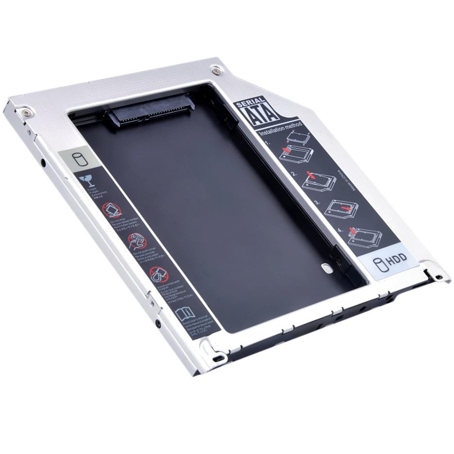 Khay lắp ổ cứng SSD cho laptop qua khay CD (Caddy bay) Dày