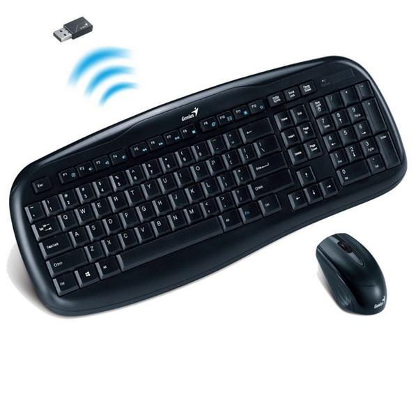 Bộ bàn phím chuột không dây Genius KB8000X USB-Wireless