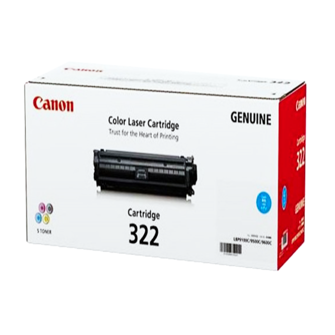 Mực hộp máy in laser Canon 322C - Dùng cho LBP 9100Cdn , LBP 9500C , LBP 9600C