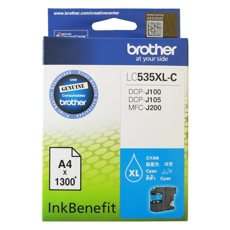 Mực hộp máy in phun Brother LC535XLC - Mực màu cho máy DCP-J100/J105/MFC-J200