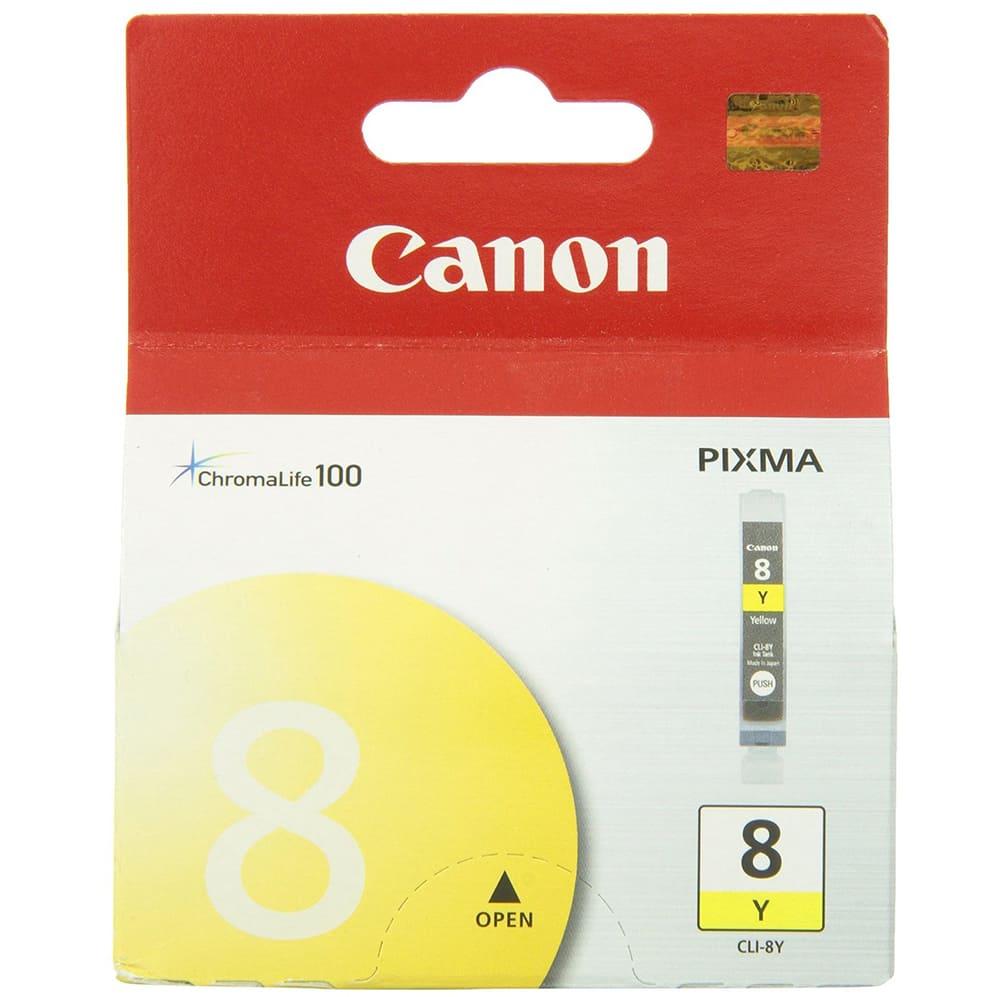 Mực hộp máy in phun Canon CLI8Y - Dùng cho máy in Canon iP 3300, iP 3500, iP 4200, iP 4300, iP 4500, iP 5200, iP 5300, iP 6600D, iP 6700D, iX 4000, iX 5000, Pro 9000, MP 500, MP 510, MP 520, MP 530, MP 610, MP800, MP830/810, MP 970, MP 600, MX