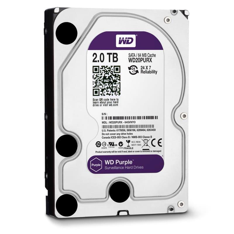 Ổ cứng HDD Western Purple 2Tb SATA3 5400rpm
