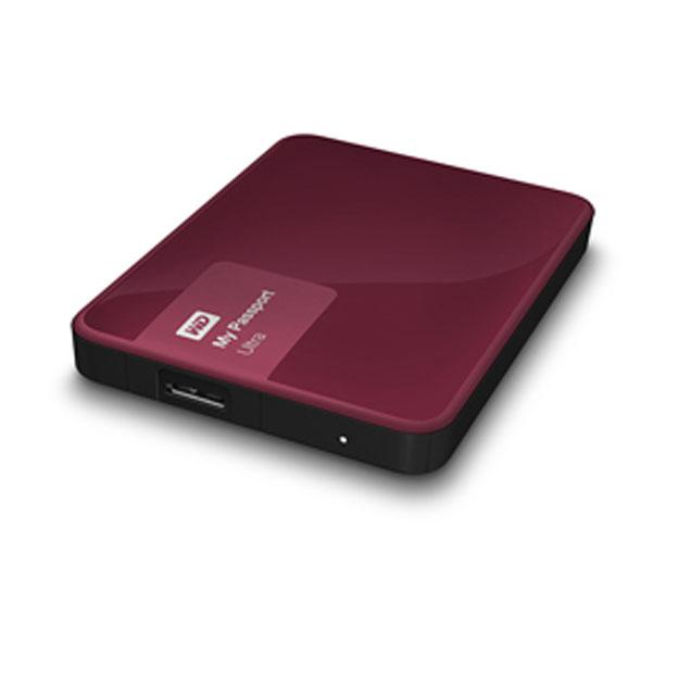 Ổ cứng di động Western Digital Ultra 500Gb USB3.0 New-Đỏ mận