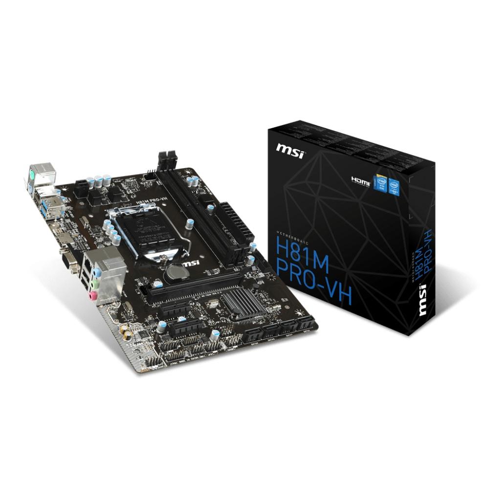 Main MSI H81M Pro-VH (Chipset Intel H81/ Socket LGA1150/ VGA onboard)