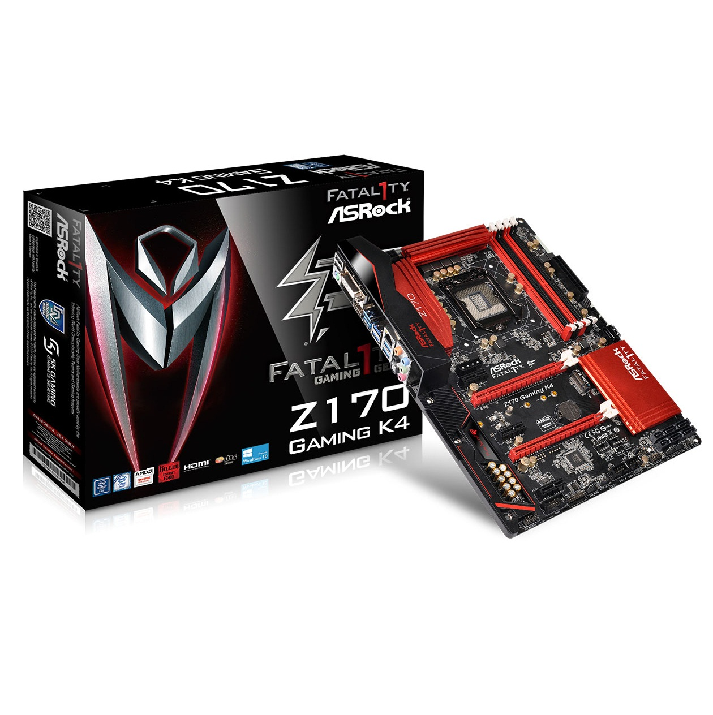 Asrock Z170 Gaming K4 (Chipset Intel Z170/ Socket LGA1151/ VGA onboard)