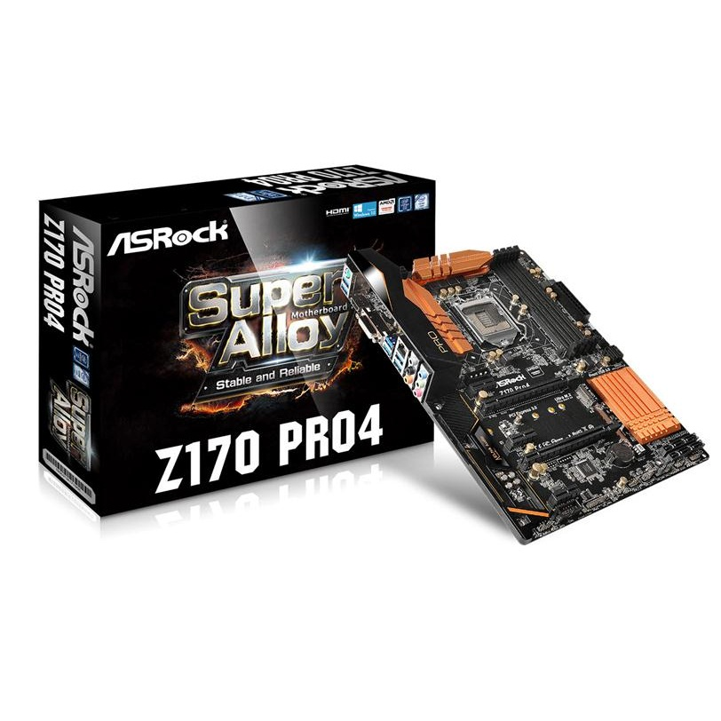 Main Asrock Z170 Pro4 (Chipset Intel Z170/ Socket LGA1151/ VGA onboard)