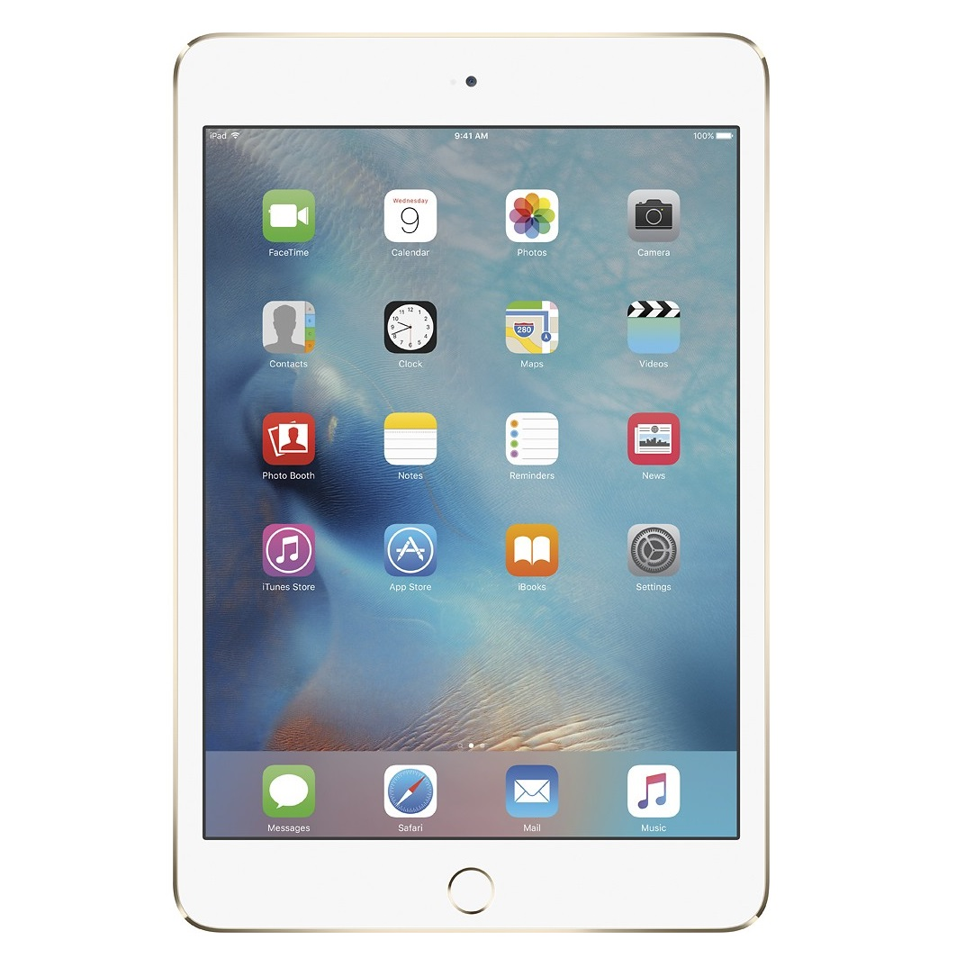 Apple iPad mini 4 Retina Cellular (Gold)- 16Gb/ 7.9Inch/ 3G + LTE + Wifi + Bluetooth