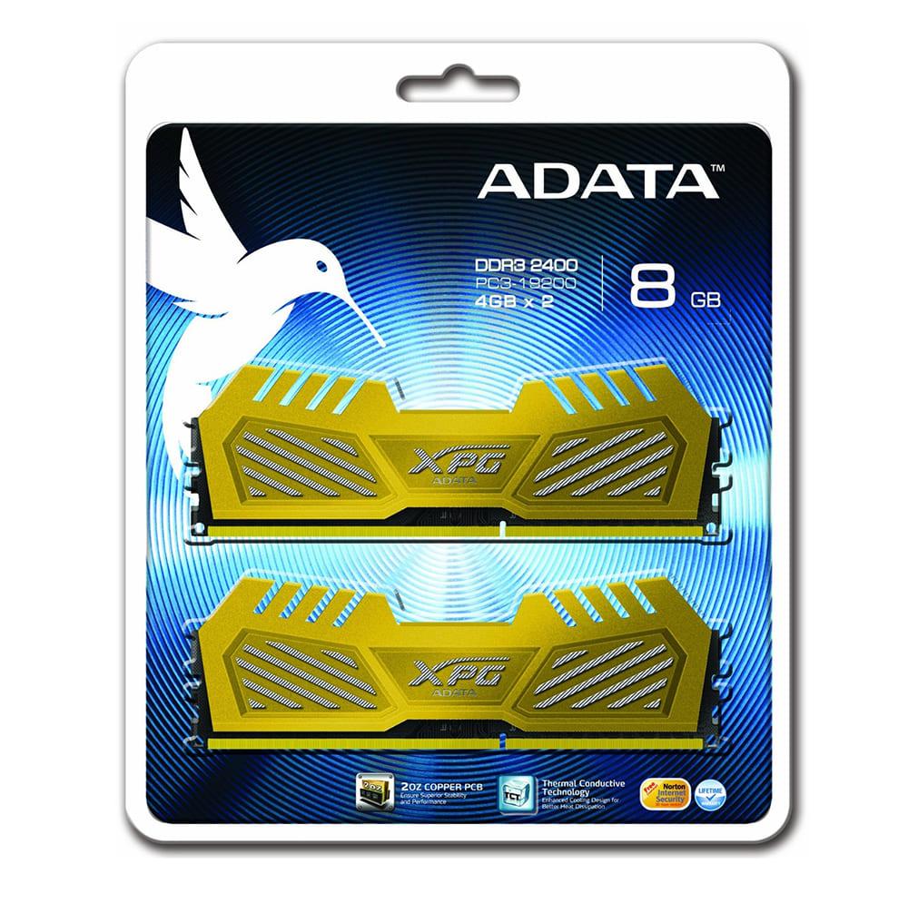 RAM Adata 8Gb (2x4Gb) DDR3 1600 Non-ECC AX3U1600W4G9-DGV