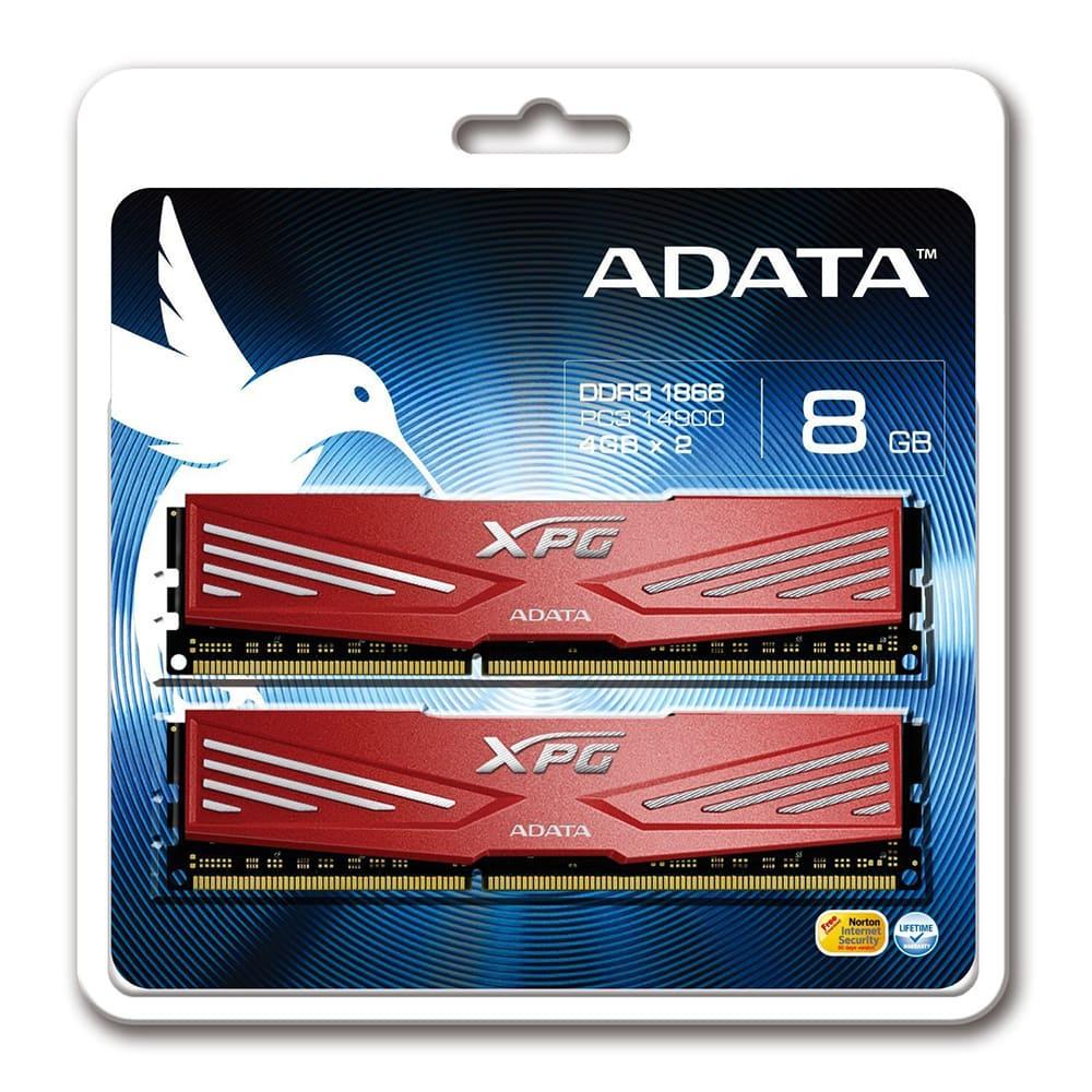 RAM Adata 8Gb (2x4Gb) DDR3 1600 Non-ECC AX3U1866W4G10-DR