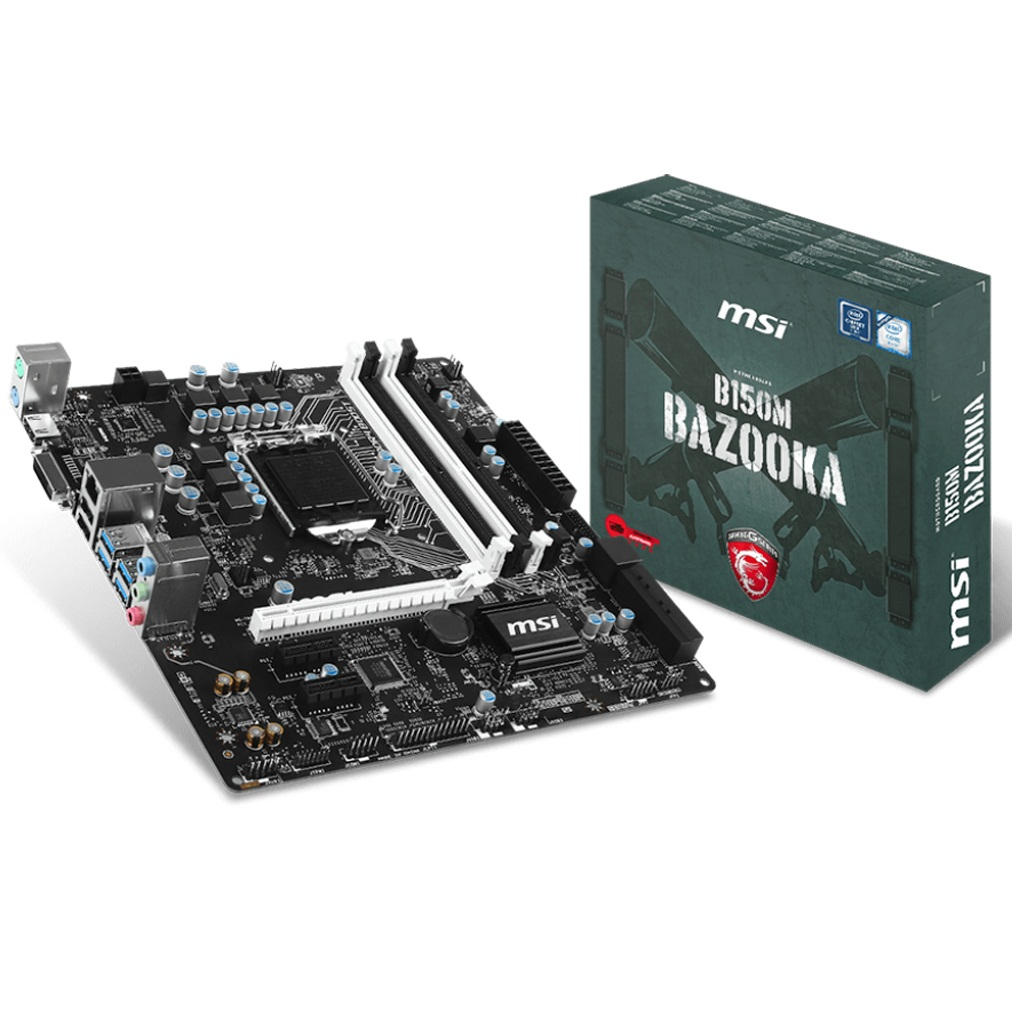 MSI B150M BAZOOKA (Chipset Intel B150/ Socket LGA1151/ VGA onboard)