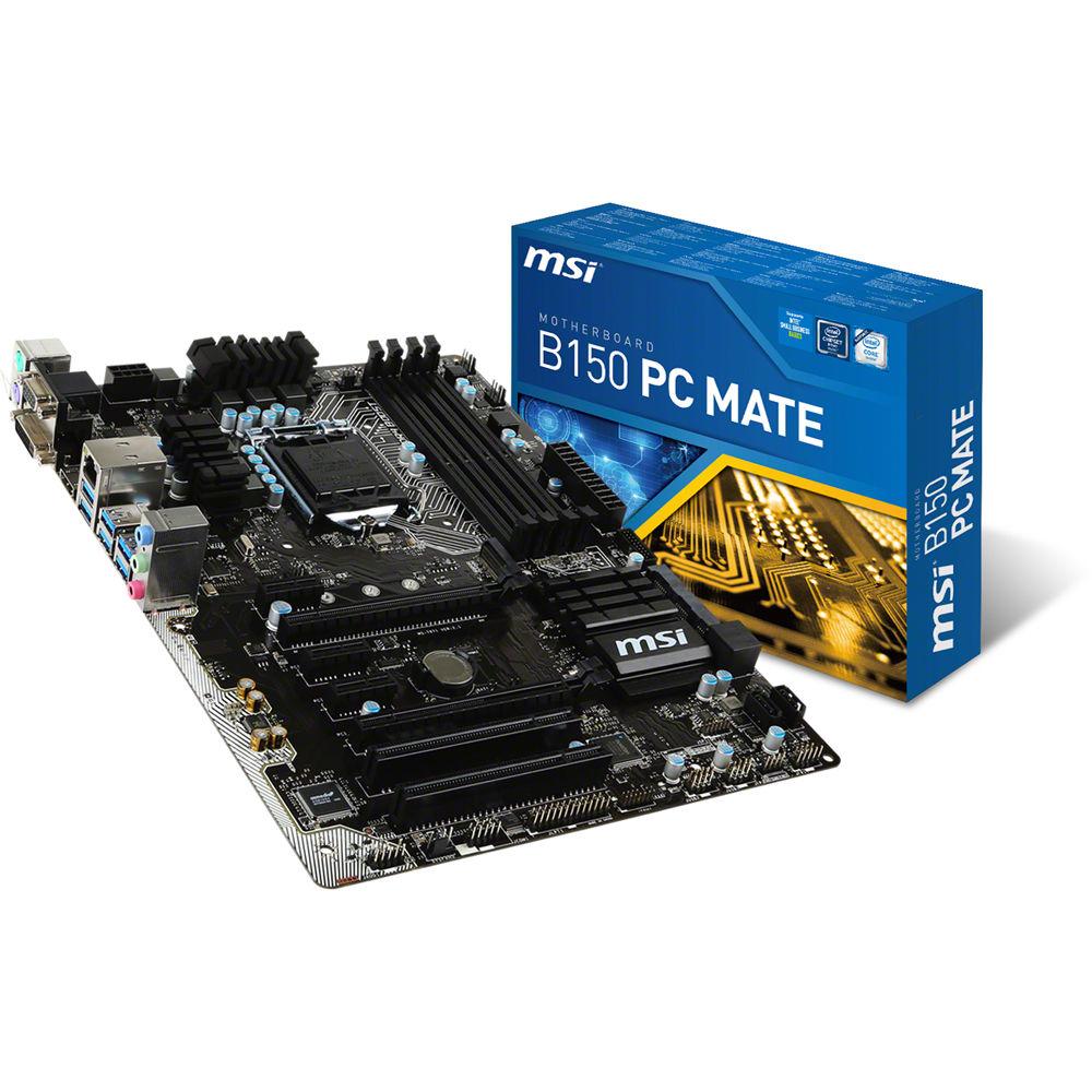 MSI B150 PC MATE (Chipset Intel B150/ Socket LGA1151/ VGA onboard)