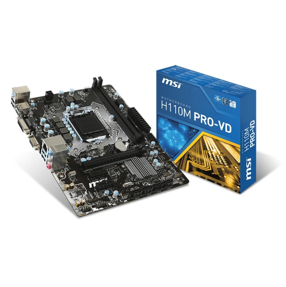 MSI H110M PRO-VD (Chipset Intel H110/ Socket LGA1151/ VGA onboard)