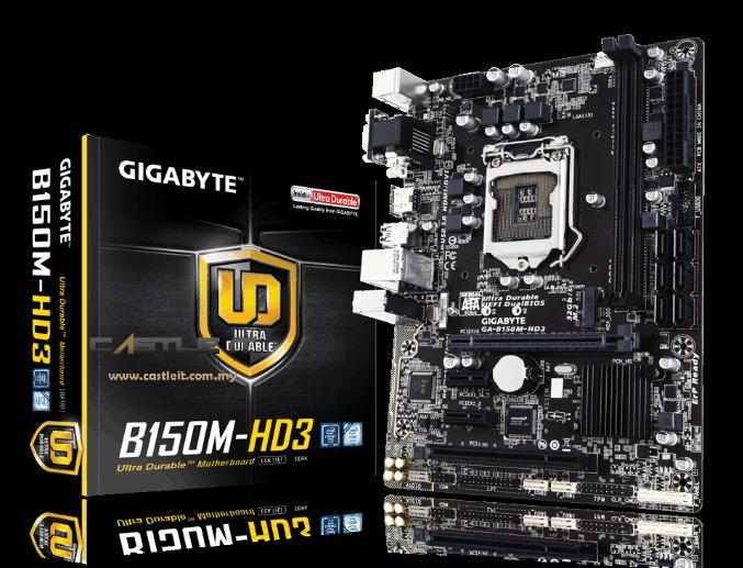Gigabyte B150M-HD3 (Chipset Intel B150/ Socket LGA1151/ VGA onboard)