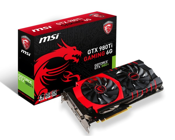 MSI GTX 980Ti Gaming 6G (NVIDIA Geforce/ 6Gb/ DDR5/ 384 Bits)