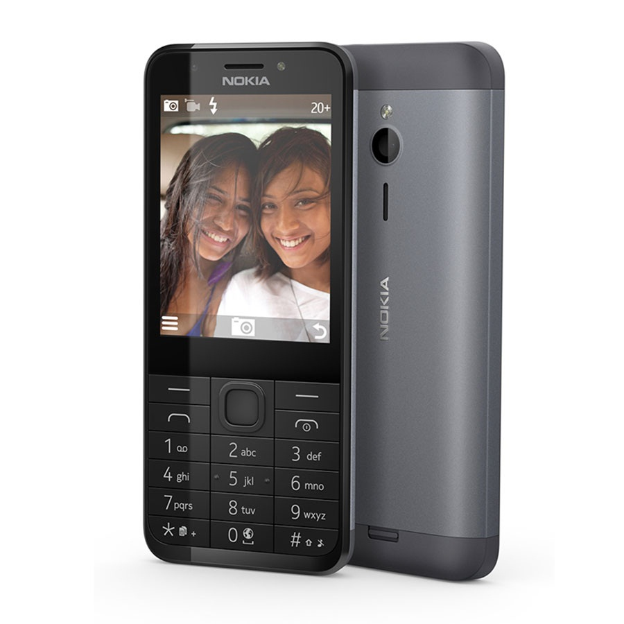 Nokia 230 (Black Silver)- 2.8Inch/ 2 sim