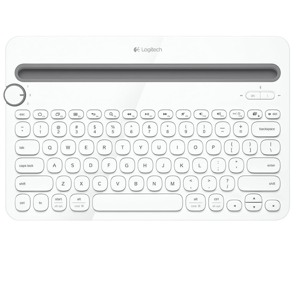 Bàn phím không dây Logitech K480 Màu trắng(Bluetooth, Không dây)