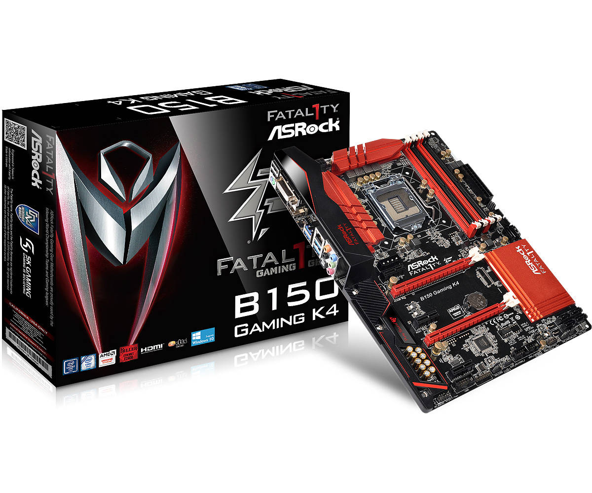Main Asrock B150 Gaming K4 (Chipset Intel B150/ Socket LGA1151/ VGA onboard)