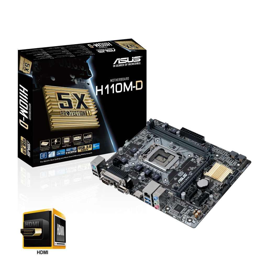 Main Asus H110M-D (Chipset Intel H110/ Socket LGA1151/ VGA onboard)