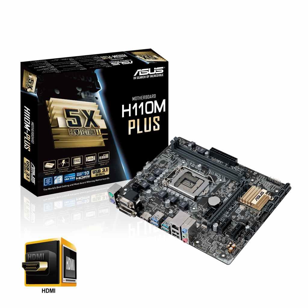 Asus H110M-Plus (Chipset Intel H110/ Socket LGA1151/ VGA onboard)