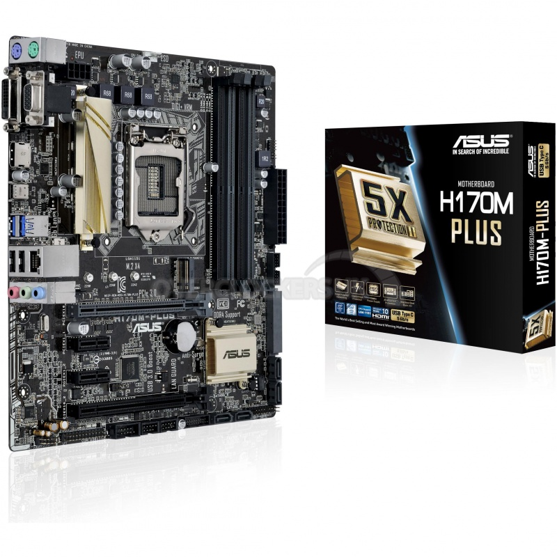Asus H170M Plus (Chipset Intel H170/ Socket LGA1151/ VGA onboard)
