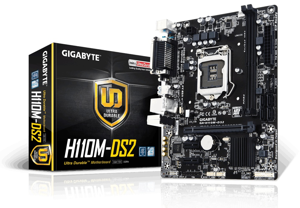 Main Gigabyte H110M-DS2 (Chipset Intel H110/ Socket LGA1151/ VGA onboard)