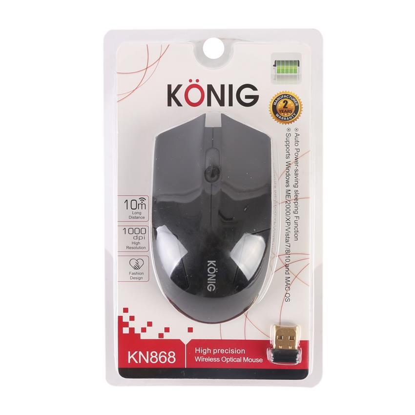 Chuột không dây KONIG KN868 (USB, Quang)