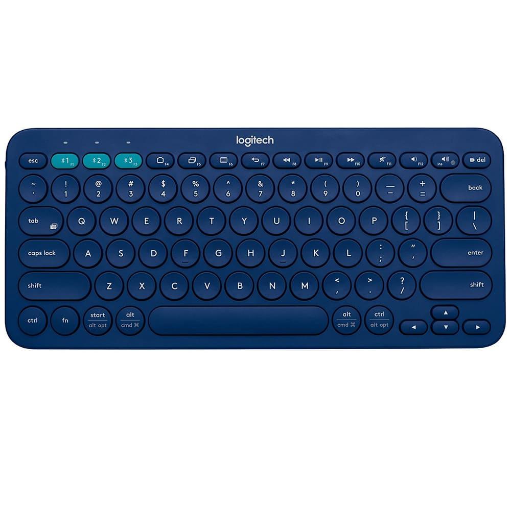 Bàn phím không dây Logitech K380 Màu xanh (Bluetooth, Không dây )