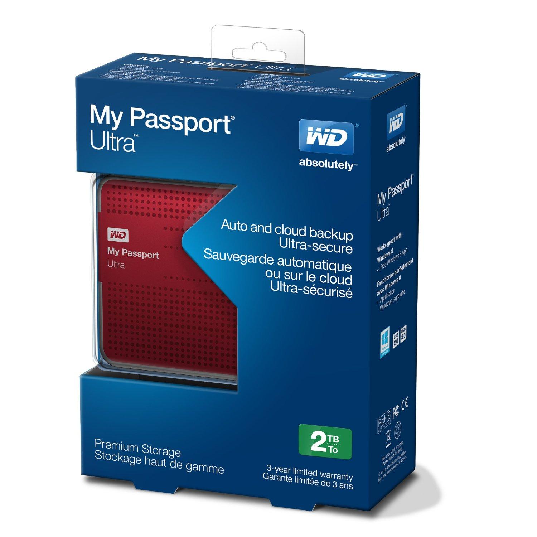 Ổ cứng di động Western Digital Ultra 2Tb USB3.0 New- Đỏ