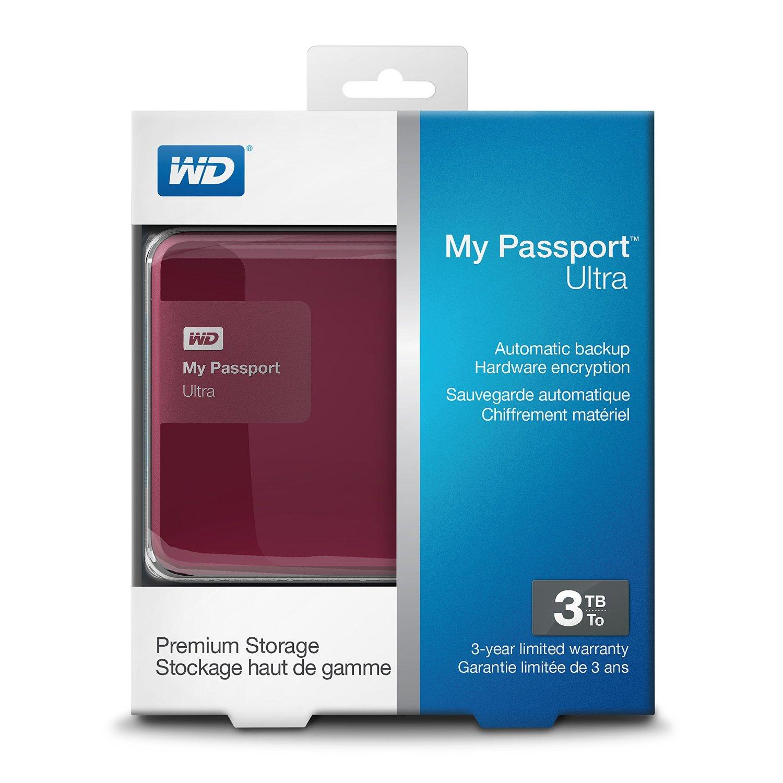 Ổ cứng di động Western Digital Ultra 3Tb USB3.0 Đỏ