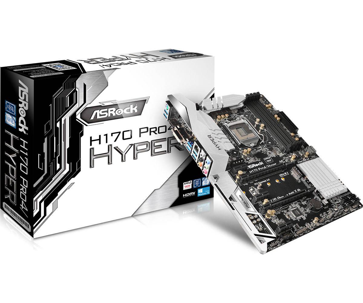 Main Asrock H170 Pro4/Hyper (Chipset Intel H170/ Socket LGA1151/ VGA onboard)