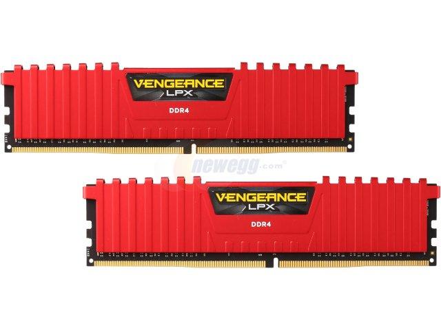 RAM Corsair 8Gb (2x4Gb) DDR4-2400- CMK8GX4M2A2400C14/R