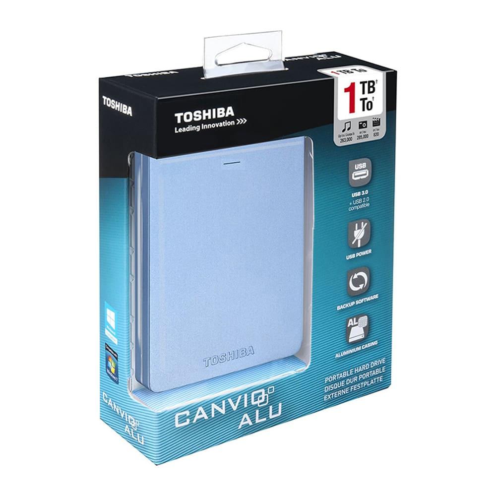 Ổ cứng di động Toshiba Canvio Alumy 1Tb USB3.0 Xanh