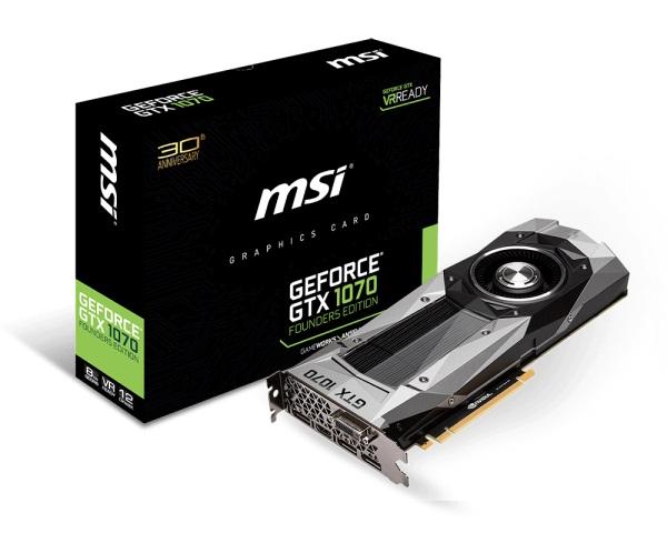 MSI GTX 1070 Founders Edition (NVIDIA Geforce/ 8Gb/ DDR5/ 256Bit)