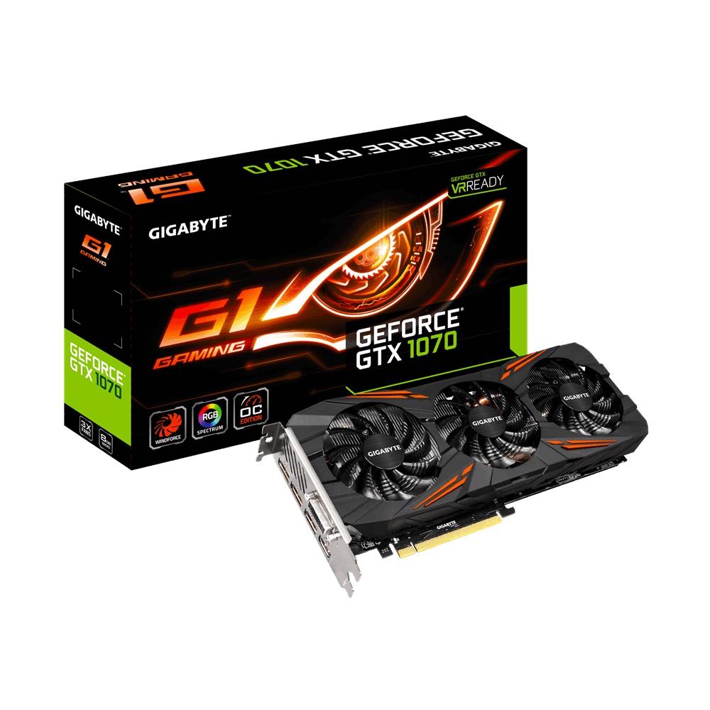VGA Gigabyte GTX1070G1 Gaming 8GD (NVIDIA Geforce/ 8Gb/ DDR5/ 256Bit)