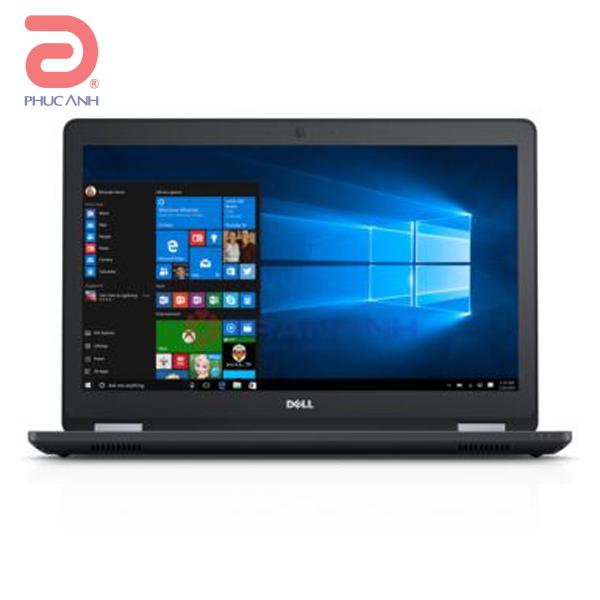 Laptop Dell Latitude L5570A P48F002-TI78502W10 (Black)-trang bị bộ vi xử lý skylake, màn hình full HD, bảo mặt vân tay