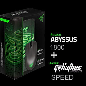 Chuột Razer Abyssus and Goliathus (Speed) Mouse and Mat Bundle RZ84-00360200-B3M1 (USB, Có dây)