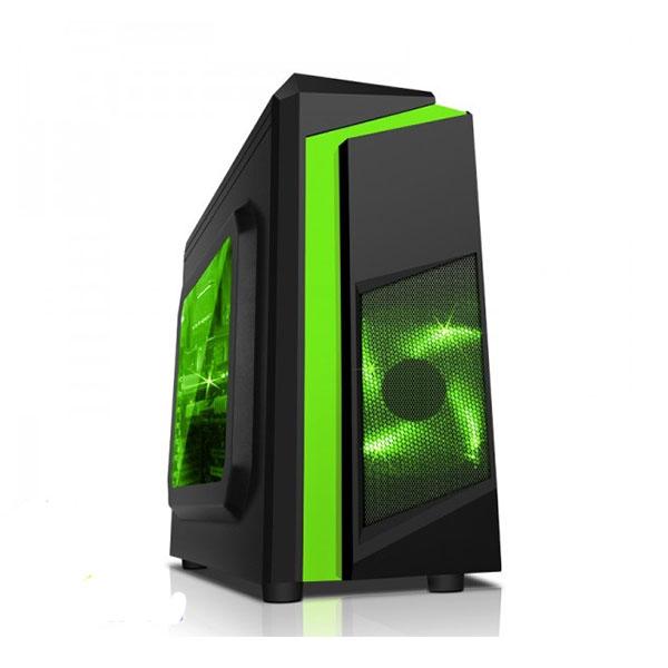 Vỏ máy tính Sama E-Sport F2 Black - Green  (MicroATX, Mini-ITX)