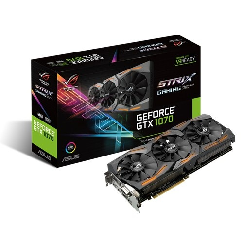 Asus ROG STRIX-GTX1070-8G-GAMING (NVIDIA Geforce/ 8Gb/ DDR5/ 256Bit)