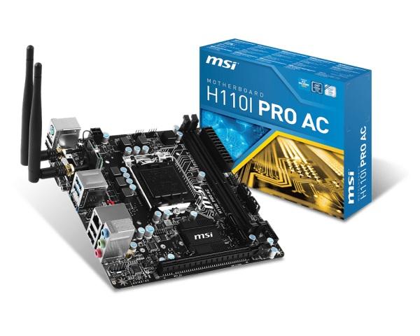 Main MSI H110i Pro AC (Chipset Intel H110/ Socket LGA1151/ VGA onboard)