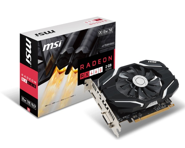 VGA MSI RX460 2G OC (AMD Radeon/ 2Gb/ DDR5/ 128 Bits)