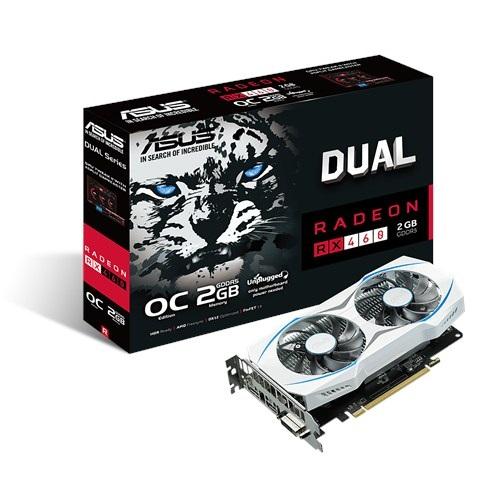 Asus DUAL RX460-O2G (AMD Radeon/ 2Gb/ DDR5/ 128 Bits)
