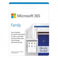 Phần mềm Microsoft 365 Family English APAC EM Subscr 1YR Medialess P6 (6GQ-01144) - (01 năm; 06 tài khoản; 30 thiết bị)